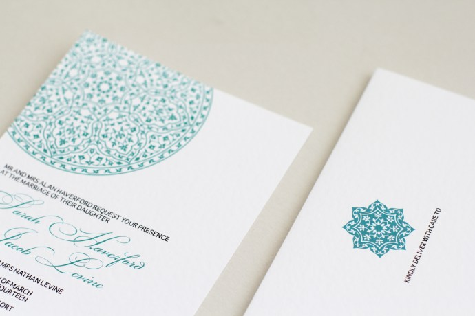 teal letterpress design