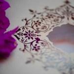 laser cut detail on folio