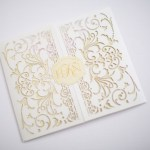 ivory, cream and gold exquisite custom invitations