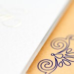 seashell inspired sophisticated invitation   AZURE