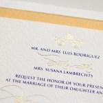 sophisticated luxury gold foil invitation | AZURE
