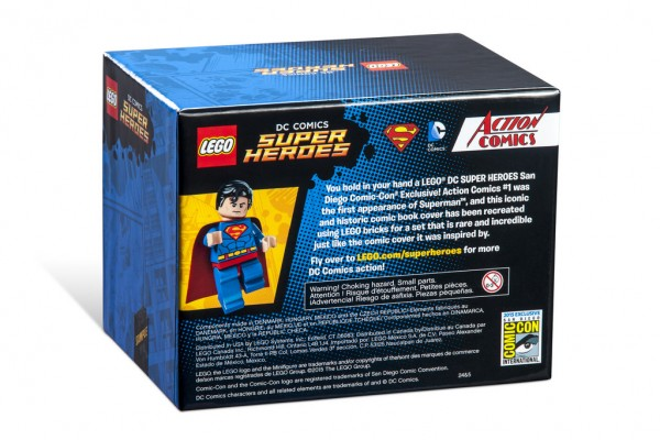 SDCC 2015 LEGO DC Comics Super Heroes Action Comics #1 Superman back