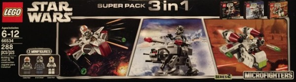 66534 LEGO Star Wars Microfighters Super Pack 3 in 1 (Series 2)