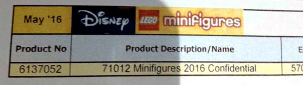 LEGO Disney Collectible Minifigures 71012