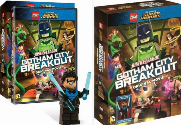 Lego Gotham City Breakout Exclusive Blue LEGO Nightwing Minifigure