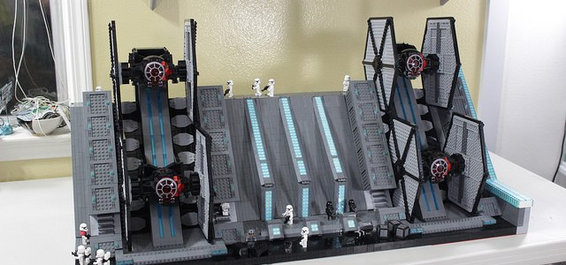 Star Wars The Force Awakens hangar TIE Fighters