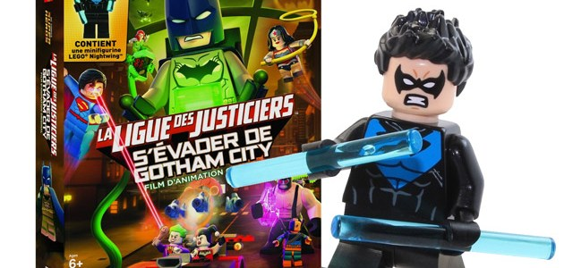 Coffret DVD LEGO DC Comics et minifig exclusive Nightwing