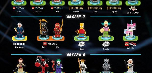 LEGO Dimensions : mise à jour de la liste des packs