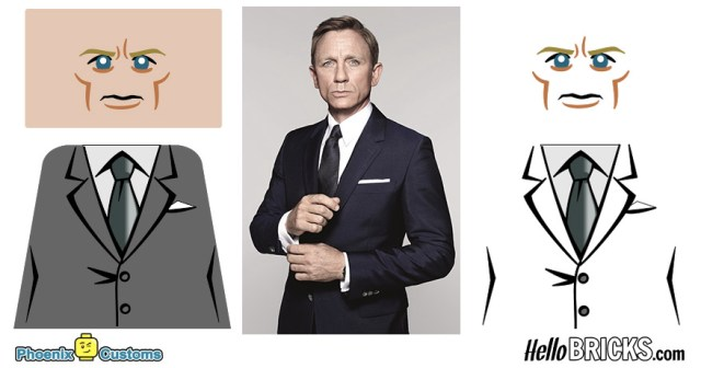 Phoenix Customs Interview Daniel Craig James Bond 007 Lego customs version