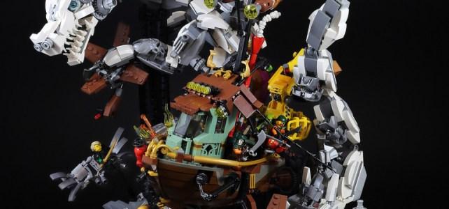 LEGO Ninjago dragon blanc contre pirates du ciel