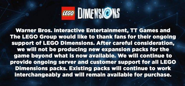 LEGO Dimensions officiellement fini
