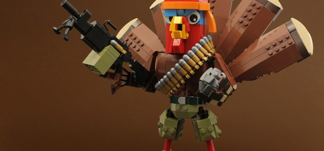 LEGO Thanksgiving dinde Rambo