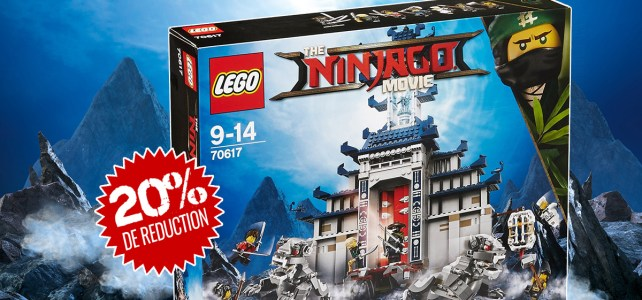 Chez LEGO : -20% aujourd'hui sur le set Ninjago Movie 70617 Temple of The Ultimate Ultimate Weapon