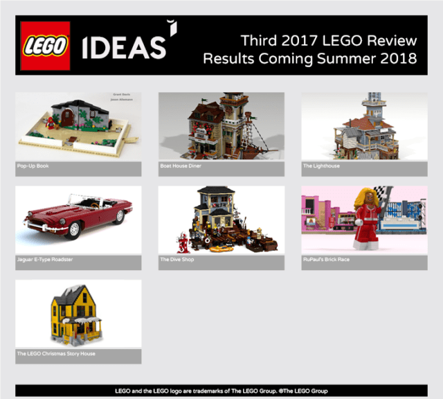 LEGO Ideas 2017 3e vague