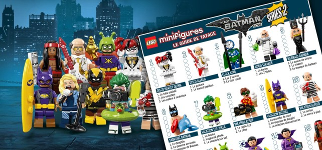 Minifigs à collectionner The LEGO Batman Movie Series 2 (71020) : le guide de tâtage