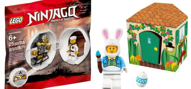 LEGO 5005249 Easter Bunny & 5005230 Zane Kendo Training Pod offerts