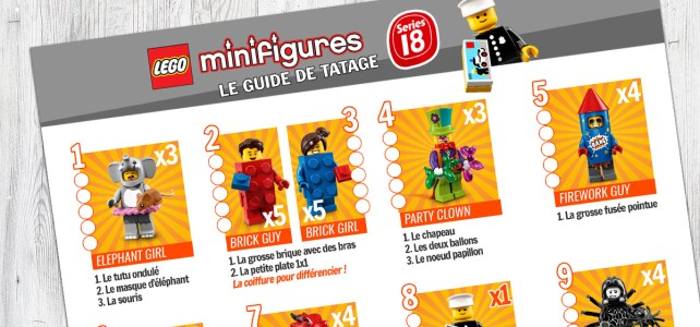 LEGO 71021 Minifigs à collectionner série 18 guide