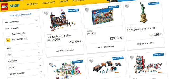 Nouveautés LEGO 2018 juin