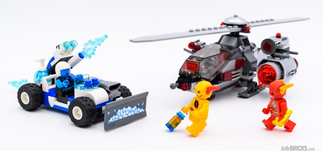 REVIEW LEGO 76098 Speed Force Freeze Pursuit : Supercopter VS chasse-neige