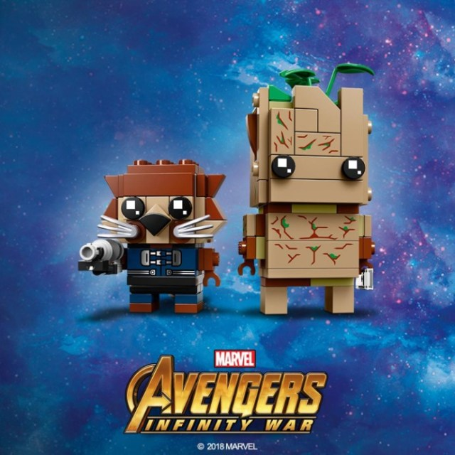 LEGO BrickHeadz 41626 Groot and Rocket Raccoon
