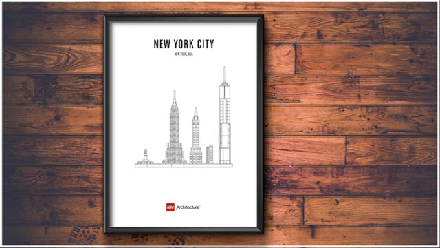Posters LEGO Architecture affiche