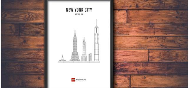 Poster LEGO Architecture affiche