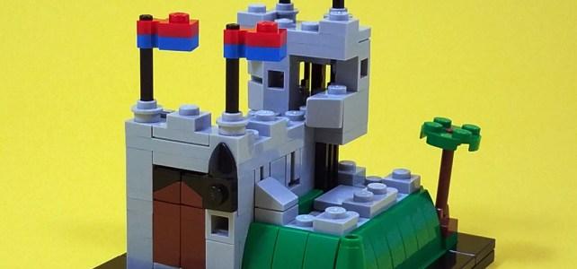 LEGO 6081 King's Mountain Fortress microscale