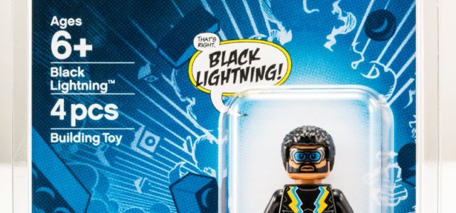 Minifig exclusive LEGO DC Comics SDCC 2018 Black Lightning