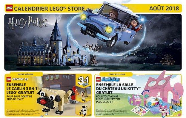 Store Calendar LEGO Aout Unikitty Creator