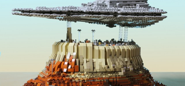 Star Wars Rogue One : Star Destroyer au dessus de Jedha City