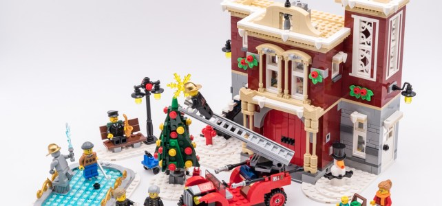 REVIEW LEGO Creator Expert 10263 Winter Village Fire Station : la caserne de pompiers de Noël