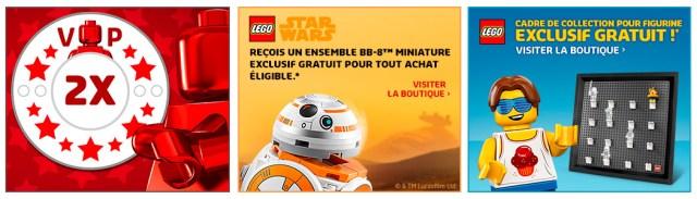 LEGO promotions octobre 2018 VIP BB-8