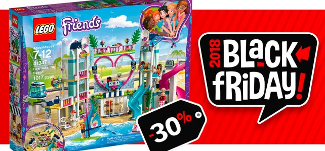 Black Friday 2018 chez LEGO : -30% sur le set LEGO Friends 41347 Heartlake City Resort