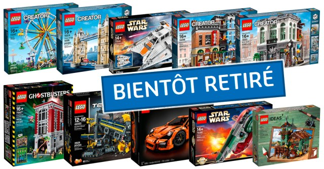 LEGO bientot retirés 2018