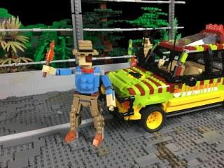 LEGO Jurassic Park T-Rex breakout
