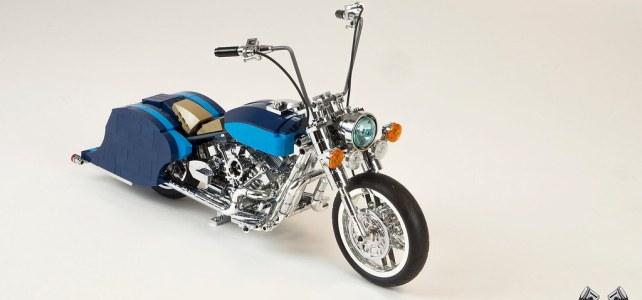 LEGO Harley Davidson Road King Lowrider chrome