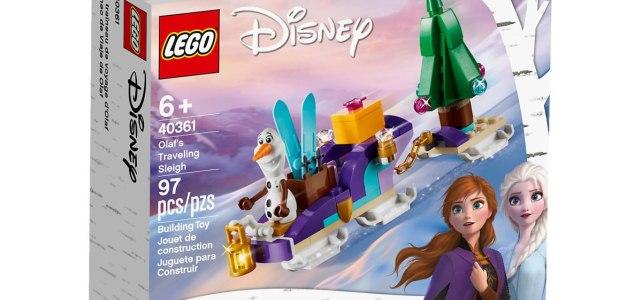 Chez LEGO : le mini set Frozen II 40361 Olaf's Traveling Sleigh offert