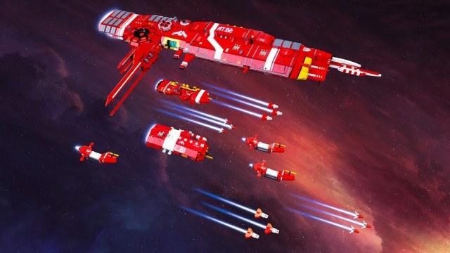 LEGO Shiptember 2019 Aegis fleet