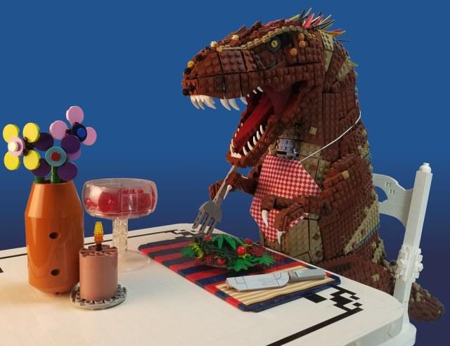 Veggiesaurus LEGO T-Rex végétarien