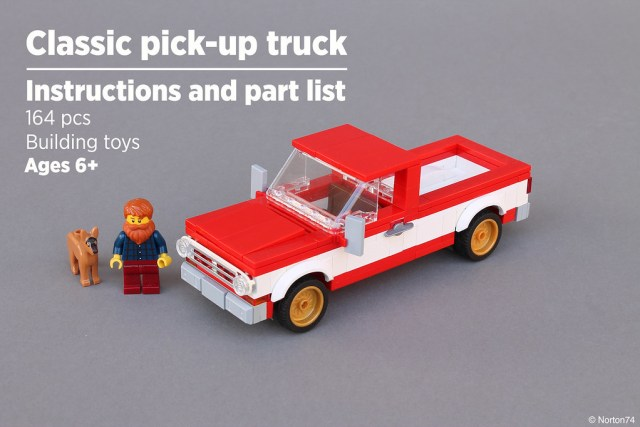Norton74 Pick-up truck LEGO instructions