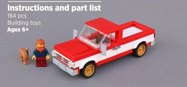 Norton74 Pick-up truck LEGO instructions