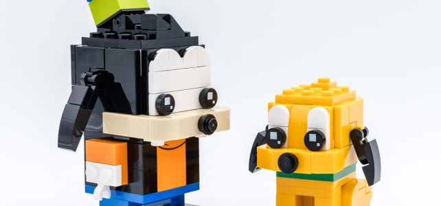 Review LEGO BrickHeadz 40378 Pluto & Goofy