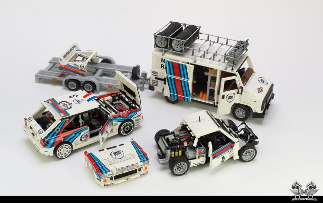LEGO Lancia Martini Historic Rally Team