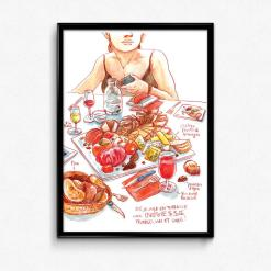 affiche fromages clermont-ferrrand