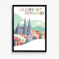 Affiche Clermont-Ferrand Pop