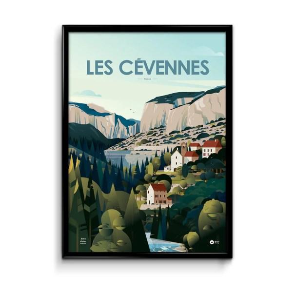 poster illustration cévennes