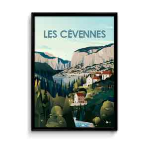 poster illustration cévennes