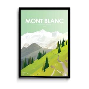 poster mont blanc illustration