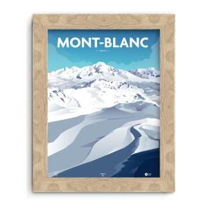 affiche Mont Blanc illustrée par un graphiste