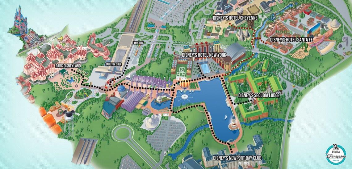 Rejoindre les hôtels Disney à pied